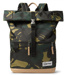 Eastpak - Macnee Leather-Trimmed Camouflage-Print Canvas Backpack
