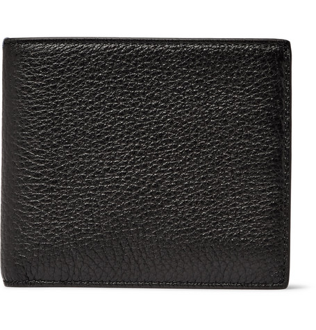Smythson Burlington Full-Grain Leather Billfold Wallet In Black