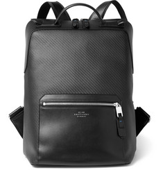 Smythson Greenwich Leather-Trimmed Coated-Cotton Backpack