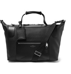 Smythson Greenwich Leather-Trimmed Lacquered-Cotton Holdall