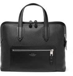 Smythson - Greenwich Leather-Trimmed Lacquered-Cotton Briefcase
