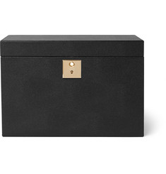 Smythson - Grosvenor Full-Grain Leather Rotary Watch Box
