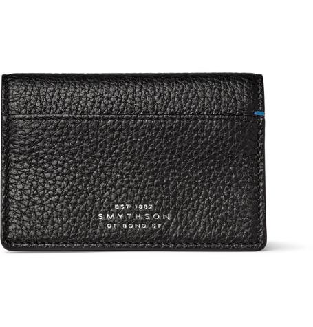 Smythson Burlington Full-Grain Leather Bifold Cardholder In Black