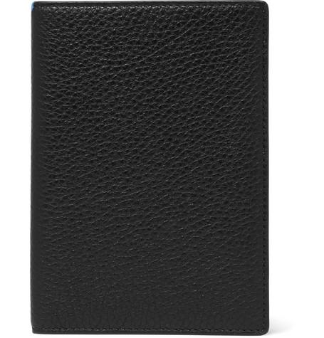 Smythson Burlington Full-Grain Leather Passport Cover In Black