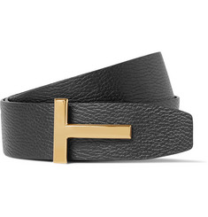TOM FORD - 4cm Black and Brown Reversible Full-Grain Leather Belt