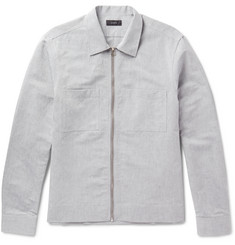 Joseph Fenhem Linen and Cotton-Blend Chambray Zip-Up Overshirt