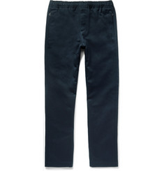 Joseph Ettrick Cotton and Linen-Blend Twill Drawstring Trousers
