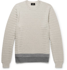 Dunhill Contrast-Trimmed Wool Sweater
