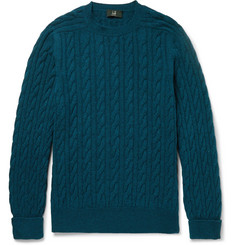 Dunhill Slim-Fit Cable-Knit Cashmere Sweater