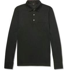 Dunhill Slim-Fit Wool Polo Shirt