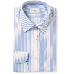 Dunhill - Blue Slim-Fit Striped Cotton-Poplin Shirt