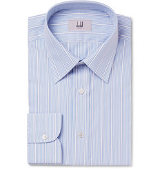 Dunhill - Light-Blue Slim-Fit Striped Cotton Shirt