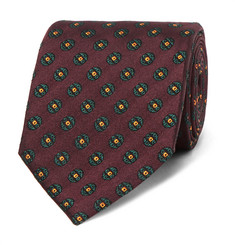 Dunhill - 8cm Medallion-Patterned Mulberry Silk-Jacquard Tie