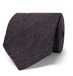 Dunhill - 8cm Herringbone Slub Mulberry Silk and Wool-Blend Tie
