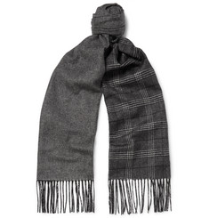 Dunhill Patterned Mulberry Silk and Cashmere-Blend Scarf