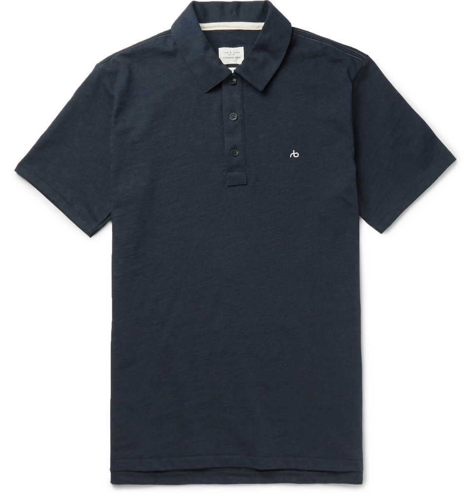 rag & bone Standard Issue Cotton Polo Shirt