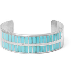 Foundwell Vintage 1980s Sterling-Silver Turquoise Cuff