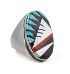 Foundwell Vintage 1980s Sterling Silver Multi-Stone Ring