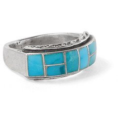 Foundwell Vintage - 1980s Sterling Silver Turquoise Ring