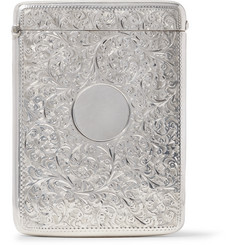 Foundwell Vintage - 1900 Oversized Engraved Sterling Silver Card Case