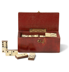 Foundwell Vintage 1880s Set of Miniature Wood Dominoes