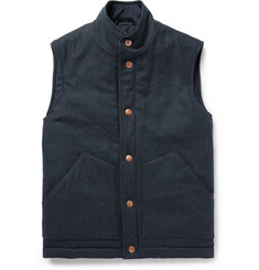 Private White V.C. Herringbone Wool and Cashmere-Blend Padded Gilet