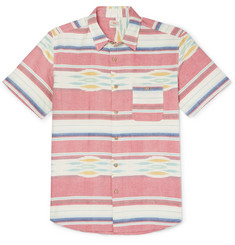 Faherty Coast Striped Cotton Oxford Shirt