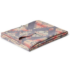 Faherty Adirondack Brushed Cotton-Jacquard Blanket