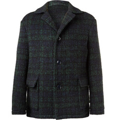 MP Massimo Piombo Checked Virgin Wool-Blend Coat
