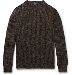 MP Massimo Piombo Ribbed Mélange Merino Wool Sweater