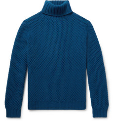 MP Massimo Piombo Honeycomb-Knit Wool Rollneck Sweater