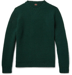 MP Massimo Piombo Honeycomb-Knit Wool Sweater