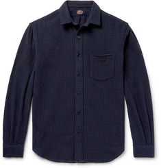 MP Massimo Piombo - Checked Wool-Blend Overshirt