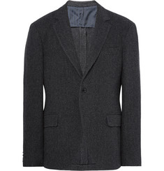MP Massimo Piombo Charcoal Slim-Fit Herringbone Virgin Wool-Blend Blazer
