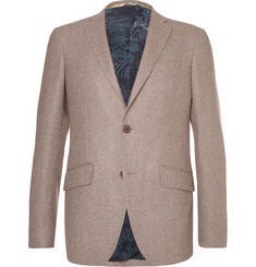 Etro Brown Slim-Fit Wool-Blend Blazer