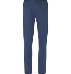 Etro Slim-Fit Stretch Cotton and Cashmere-Blend Twill Trousers