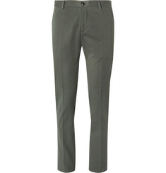Etro - Slim-Fit Stretch Cotton and Cashmere-Blend Trousers