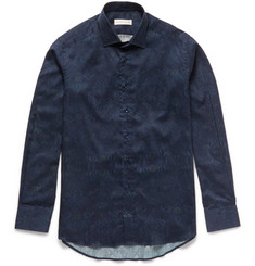 Etro Slim-Fit Damask-Printed Cotton-Poplin Shirt