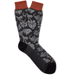 Etro - Floral-Patterned Cotton-Jacquard Socks