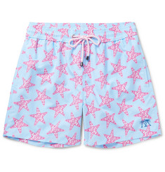 Pink House Mustique Mid-Length Starfish-Print Swim Shorts