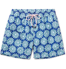 Pink House Mustique Mid-Length Cactus-Print Swim Shorts