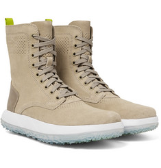 Under Armour Sportswear - RLT Summer Leather-Trimmed Suede Boots