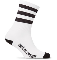 Cafe du Cycliste - Striped Stretch-Knit Cycling Socks