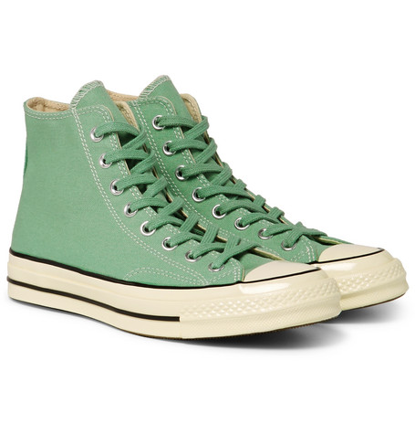 Billede af 1970s Chuck Taylor All Star Canvas High-top Sneakers - Green