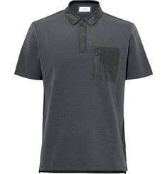 Aztech Mountain Maroon Creek Shell-Trimmed Stretch Cotton-Blend Piqué Polo Shirt
