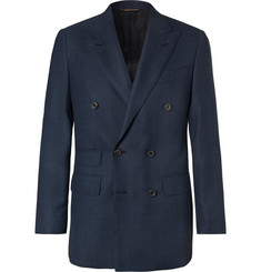 Thom Sweeney - Slim-Fit Double-Breasted Wool-Hopsack Blazer