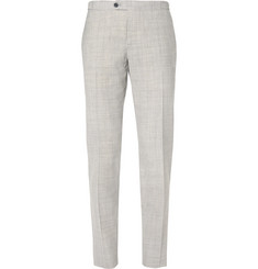 Thom Sweeney Fresco Slim-Fit Wool Trousers