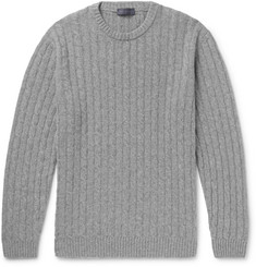Thom Sweeney Slim-Fit Cable-Knit Cashmere Sweater