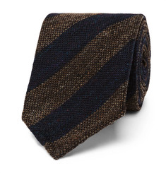 Thom Sweeney - 7.5cm Striped Woven Wool and Silk-Blend Tie