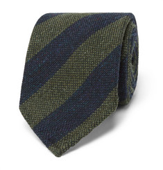 Thom Sweeney - 7.5cm Striped Wool and Silk-Blend Tie